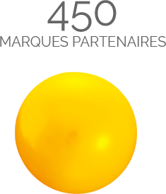 450 marques partenaires
