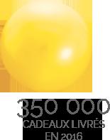 350 000 cadeaux livrés en 2016