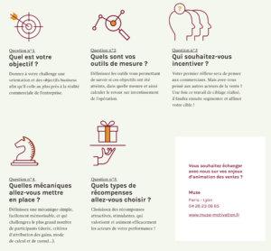 Infographie des 5 questions à se poser avant de lancer son opération de motivation